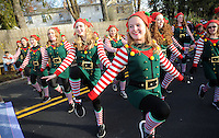 Dancers from BC Discoveries Dance & Theater Arts Co. perform during the Newtown Christmas Parade Sunday, December 4, 2016 in Newtown, Pennsylvania. (Photo by William Thomas Cain)