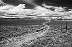 Montana, Monida. Monida Pass dirt track into the Centennial Valley.