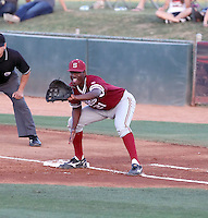 Brian Ragira #21 of the Stanford Cardinal plays against the Arizona State Sun Devils on April 29, 2011 at Packard Stadium, Arizona State University, in Tempe, Arizona. .Photo by:  Bill Mitchell/Four Seam Images.
