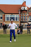John Pak (USA) on the 16th during Day 2 Singles at the Walker Cup, Royal Liverpool Golf CLub, Hoylake, Cheshire, England. 08/09/2019.<br /> Picture Thos Caffrey / Golffile.ie<br /> <br /> All photo usage must carry mandatory copyright credit (© Golffile | Thos Caffrey)