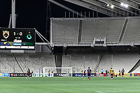 Empty stadium during of the UEFA Europa League play-off, 1st leg, soccer match between AEK Athens FC and Trabzonspor at the OAKA Spyros Louis Stadium in Athens, Greece on August 22, 2019.
