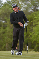 Pat Perez (USA) watches his tee shot on 15 during Round 1 of the Valero Texas Open, AT&amp;T Oaks Course, TPC San Antonio, San Antonio, Texas, USA. 4/19/2018.<br /> Picture: Golffile | Ken Murray<br /> <br /> <br /> All photo usage must carry mandatory copyright credit (&copy; Golffile | Ken Murray)