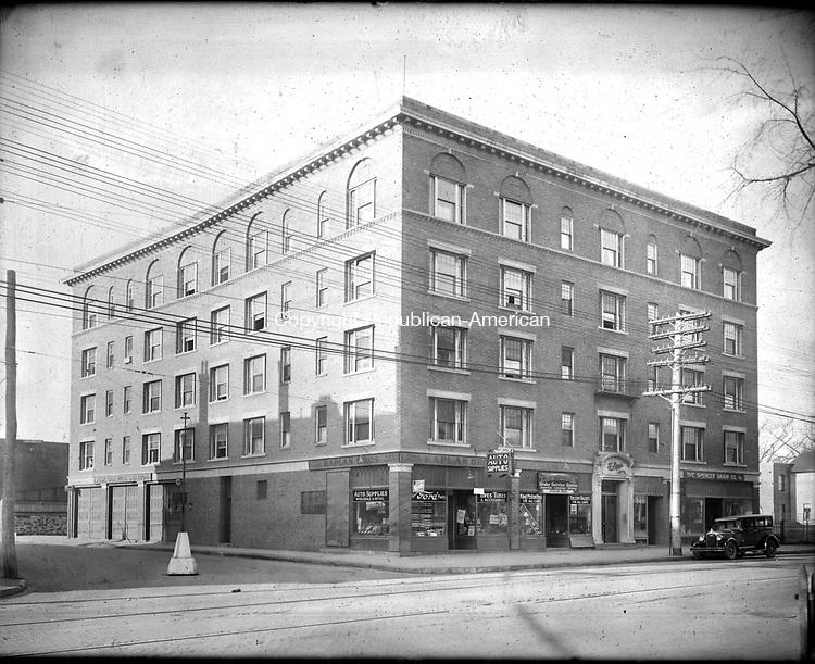 Frederick Stone negative. St. Reigis Bldg, East Main Street. Undated photo