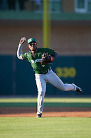 Daytona Tortugas shortstop Alfredo Rodriguez (2) throws to first for the out during a game against the Florida Fire Frogs on April 6, 2017 at Osceola County Stadium in Kissimmee, Florida.  Daytona defeated Florida 3-1.  (Mike Janes/Four Seam Images)