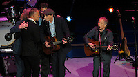 NEW YORK, NY - OCTOBER 4: Sting, James Taylor and Paul Simon at Paul Simon's Children's Health Fund's 25th Anniversary Benefit Concert at Radio City Music Hall on October 4, 2012. Credit Jen Maler/MediaPunch Inc. /©NortePhoto
