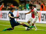 Ander Herrera of Manchester United tackles Amin Younes of Ajax during the UEFA Europa League Final match at the Friends Arena, Stockholm. Picture date: May 24th, 2017.Picture credit should read: Matt McNulty/Sportimage