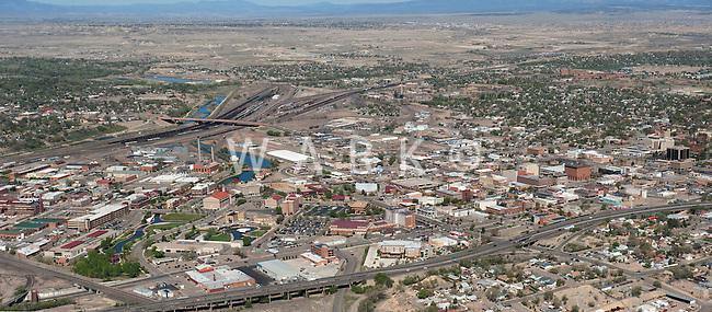 Aerial downtown Pueblo,Colorado looking northwest. April 2012