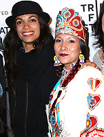 www.acepixs.com<br /> <br /> April 22 2017, New York City<br /> <br /> Floris White Bull, (R) and Rosario Dawson arriving at the premiere of 'Awake: A Dream from Standing Rock' during the 2017 Tribeca Film Festival at Cinepolis Chelsea on April 22, 2017 in New York City. <br /> <br /> By Line: Nancy Rivera/ACE Pictures<br /> <br /> <br /> ACE Pictures Inc<br /> Tel: 6467670430<br /> Email: info@acepixs.com<br /> www.acepixs.com