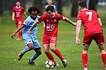 NELSON, NEW ZEALAND - AUGUST 11: SFL - Nelson Suburbs v Caversham AFC. Saxton Field, Sunday 11 August 2019 in Nelson, New Zealand. (Photo by Chris Symes/Shuttersport Limited)