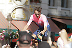Rigoberto Uran (COL) EF Education First at the team presentation held on the Grand-Place before the 2019 Tour de France starting in Brussels, Belgium. 4th July 2019<br /> Picture: Colin Flockton | Cyclefile<br /> All photos usage must carry mandatory copyright credit (© Cyclefile | Colin Flockton)