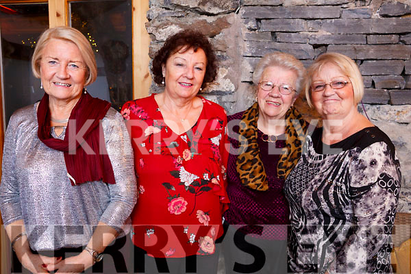 Mary Horgan (Ballybunion), Sheila Purcell, Esther Coffey and Joan Bernie of Tralee, enjoying the Womens Little Christmas in the Bella Bia Restaurant on Saturday night.