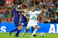 FC Barcelona's Leo Messi (l) and Jordi Alba (c) and Chapecoense's Guerrero during Joan Gamper Trophy. August 7,2017. (ALTERPHOTOS/Acero) /NortePhoto.com