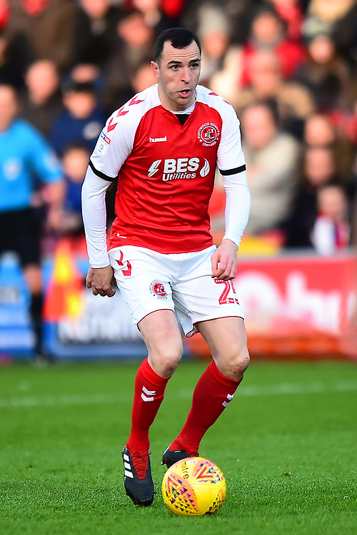 Fleetwood Town's Dean Marney in action<br /> <br /> Photographer Richard Martin-Roberts/CameraSport<br /> <br /> The EFL Sky Bet League One - Fleetwood Town v Portsmouth - Saturday 29th December 2018 - Highbury Stadium - Fleetwood<br /> <br /> World Copyright © 2018 CameraSport. All rights reserved. 43 Linden Ave. Countesthorpe. Leicester. England. LE8 5PG - Tel: +44 (0) 116 277 4147 - admin@camerasport.com - www.camerasport.com