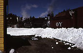 C&amp;TS rotary snowplow #OY train on Cumbres Pass powered by #484 &amp; #488 with outfit cars.<br /> C&amp;TS  Cumbres Pass, CO