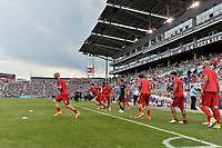 Commerce City, CO - Thursday June 08, 2017: Michael Bradley and USMNT during their 2018 FIFA World Cup Qualifying Final Round match versus Trinidad & Tobago at Dick's Sporting Goods Park.