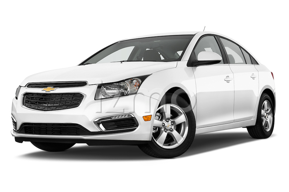 Stock pictures of low aggressive front three quarter view of a 2015 Chevrolet Cruze 4-Door Sedan 2LT Automatic 4 Door  Low Aggressive