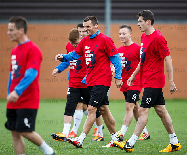 Lee McCulloch having a chuckle