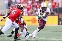 College Park, MD - September 22, 2018:  Minnesota Golden Gophers wide receiver Tyler Johnson (6) catches a pass during the game between Minnesota and Maryland at  Capital One Field at Maryland Stadium in College Park, MD.  (Photo by Elliott Brown/Media Images International)