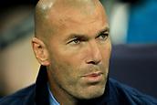 1st November 2017, Wembley Stadium, London, England; UEFA Champions League, Tottenham Hotspur versus Real Madrid; Real Madrid Manager Zinedine Zidane