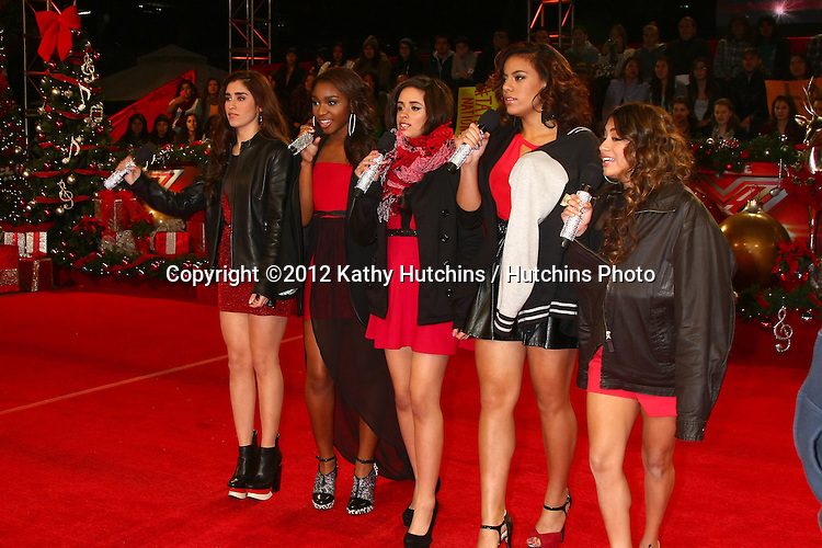 LOS ANGELES - DEC 19:  Fifth Harmony at the 'X Factor' Season Finale performances  show taping at CBS Television City on December 19, 2012 in Los Angeles, CA