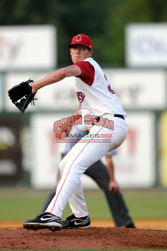 Lowell Spinners pitcher Pat Light #30 during a game versus the Staten Island Yankees at LeLacheur Park in Lowell, Massachusetts on July 14, 2012.  (Ken Babbitt/Four Seam Images)