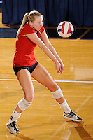 20 November 2008:  Arkansas State outside hitter Kristen Catalane (6) returns the ball during the Middle Tennessee 3-0 victory over Arkansas State in the first round of the Sun Belt Conference Championship tournament at FIU Stadium in Miami, Florida.