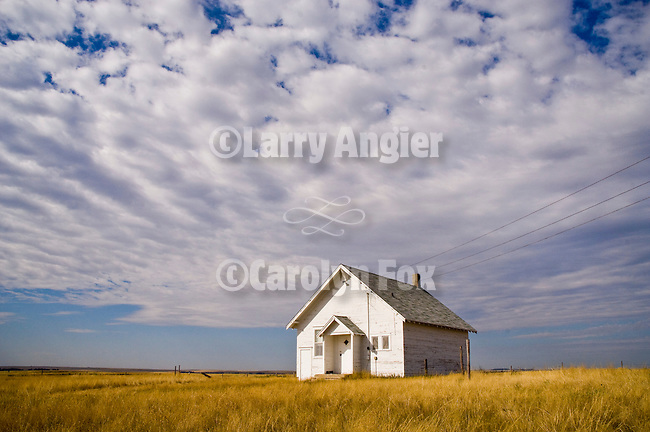 One room school house in the Sand Hills of Nebraska.
