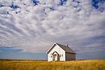 One room school house in the Sand Hills of Nebraska.