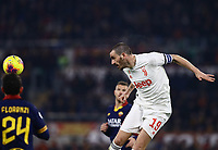 12th January 2020; Stadio Olympico, Rome, Italy; Italian Serie A Football, Roma versus Juventus; Leonardo Bonucci of Juventus power a header clear