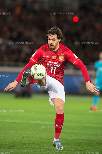 Ricardo Goulart (Evergrande), DECEMBER 17, 2015 - Football / Soccer : FIFA Club World Cup Japan 2015 semi-final match between FC Barcelona 3-0 Guangzhou Evergrande at Yokohama International Stadium, Kanagawa, Japan. (Photo by Enrico Calderoni/AFLO)