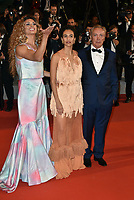 "Silveiro Peirera , Udo Kier and Barbara Colen attend the screening of ""Bacurau"" during the 72nd annual Cannes Film Festival on May 15, 2019 in Cannes, France.2019. <br /> CAP/PL<br /> ©Phil Loftus/Capital Pictures"