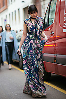Daisy Lowe at Milan Fashion Week (Photo by Hunter Abrams/Guest of a Guest)