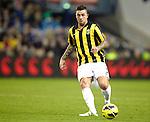 Nederland, Arnhem, 16 december  2012.Eredivisie.Seizoen 2012/2013.Vitesse-RKC.Theo Janssen van Vitesse in actie met de bal