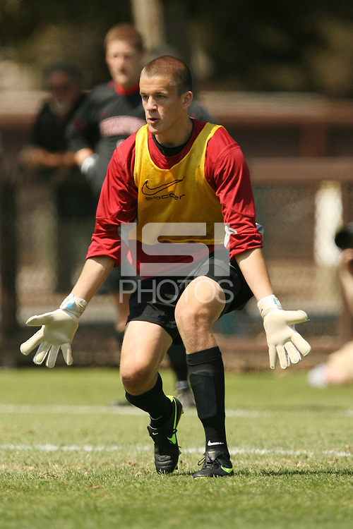 STANFORD, CA - AUGUST 20:  Galen Perkins of the Stanford Cardinal during Stanford's 0-0 tie with Sonoma State on August 20, 2009 in Stanford, California.