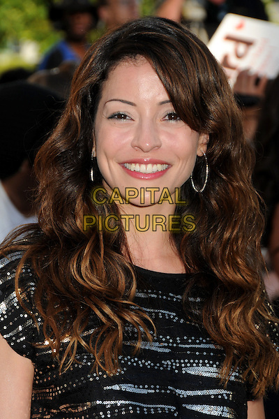"EMMANUELLE VAUGIER .""The Twilight Saga: Eclipse"" Los Angeles Premiere at the 2010 Los Angeles Film Festival held at Nokia Theatre LA Live, Los Angeles, California, USA, 24th June 2010..portrait headshot smiling black silver beaded sequined sequin top.CAP/ADM/BP.©Byron Purvis/AdMedia/Capital Pictures."