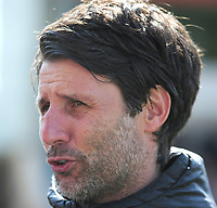 Lincoln City manager Danny Cowley during the pre-match warm-up<br /> <br /> Photographer Andrew Vaughan/CameraSport<br /> <br /> The EFL Sky Bet League Two - Lincoln City v Cheltenham Town - Saturday 13th April 2019 - Sincil Bank - Lincoln<br /> <br /> World Copyright &copy; 2019 CameraSport. All rights reserved. 43 Linden Ave. Countesthorpe. Leicester. England. LE8 5PG - Tel: +44 (0) 116 277 4147 - admin@camerasport.com - www.camerasport.com