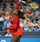August 14,2018:   Serena Williams (USA) loses to Petra Kvitova (CZE) 6-3, 2-6, 6-3 at the Western & Southern Open being played at Lindner Family Tennis Center in Mason, Ohio.  ©Leslie Billman/Tennisclix/CSM