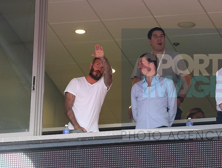 David Beckham watches from the crowd<br /> <br /> England vs Honduras  - International Friendly - Sun Life Stadium - Miami - USA - 07/06/2014  - Pic David Klein/Sportimage