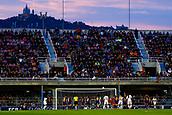 28th March 2018, Mini Estad, Barcelona, Spain; Womens Champions League football, quarter final, 2nd leg, Barcelona Women versus Lyon Women; Eugénie Le Sommer of Olympique Lyonnais scores her goal for 0-1