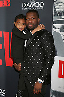 "LOS ANGELES - JAN 17:  Curtis Jackson, 50 Cent, Sire Jackson at the ""Den of Thieves"" Premiere at Regal LA Live Theaters on January 17, 2018 in Los Angeles, CA"