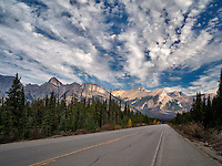 Road in Banff National Park, Alberta, Canada