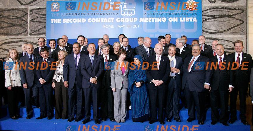 Photo Family.Roma 05/05/2011 Farnesina. seconda riunione del gruppo di contatto sulla Libia. Second contact group meeting on Libya..Photo Samantha Zucchi Insidefoto