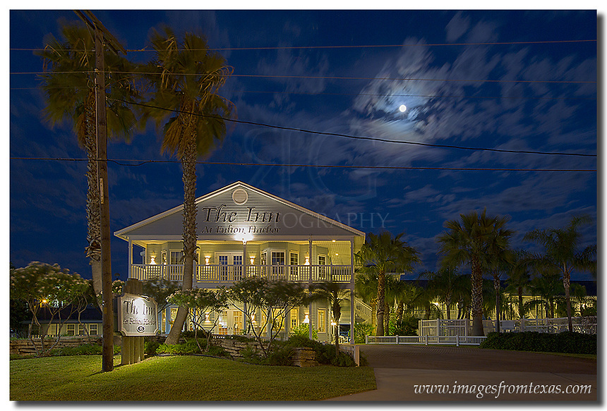 The Inn at Fulton Harbor opened in the Spring of 2002. It sits near the harbor in Rockport-Fulton, Texas. From there, you have great views as the shrimp boats return each morning from catching the next night's supper!