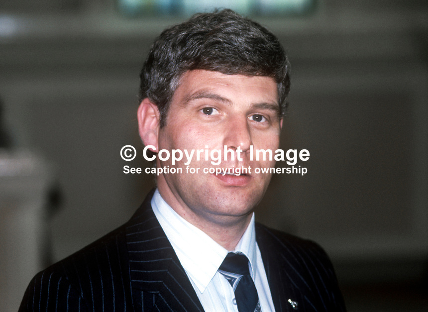 John McMichael, prominent member, Ulster Defence Association, UDA, and the N Ireland Political Research Group, 1982, 198505000156JMM1