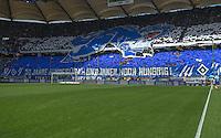 FUSSBALL   1. BUNDESLIGA   SAISON 2013/2014   4. SPIELTAG Hamburger SV - Eintracht Braunschweig                  31.08.2013 HSV Fan Choreografie: 50 Jahre Bundesliga - und immer noch hungring