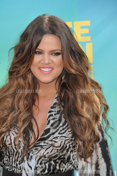 Khloe Kardashian at the 2011 Teen Choice Awards at the Gibson Amphitheatre, Universal Studios, Hollywood..August 7, 2011  Los Angeles, CA.Picture: Paul Smith / Featureflash