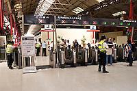 British transport police officers Marylebone British Rail Station London