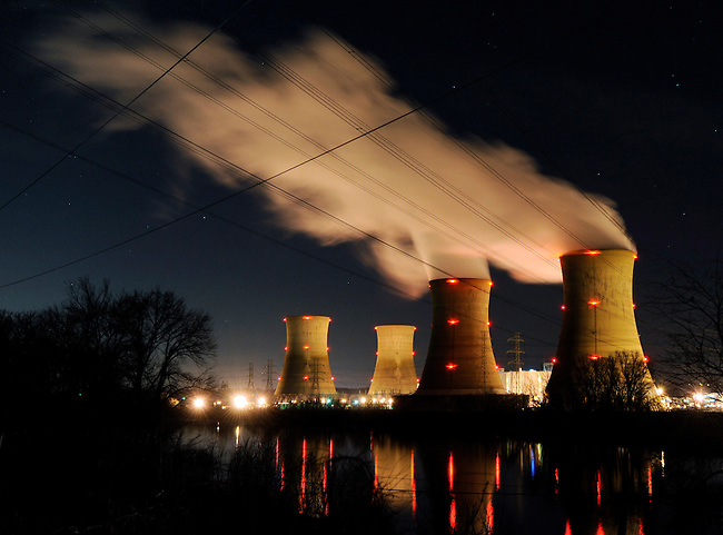 The Three Mile Island nuclear power generating station shown here Monday, March 28, 2011 in Middletown, Pa. continues to generate electric power with the Unit 1 reactor. TMI was the scene  of the 1979 meltdown of the Unit 2 reactor the worst nuclear power plant disaster in the United states. (AP Photo/Bradley C Bower)