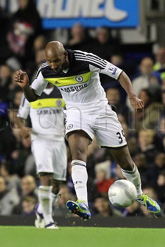 26.10.2011. Liverpool, England. Nicolas Anelka in action in the Carling Cup match between Everton and Chelsea at Goodison Park. Mandatory Credit ActionPlus.