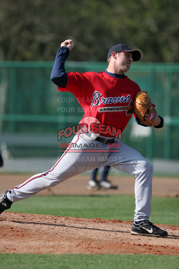 Atlanta Braves minor leaguer Mike Mehlich during Spring Training at Disney's Wide World of Sports on March 15, 2007 in Orlando, Florida.  (Mike Janes/Four Seam Images)